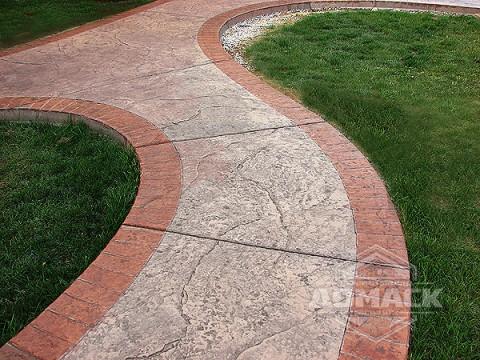 Цветные цементные дорожки