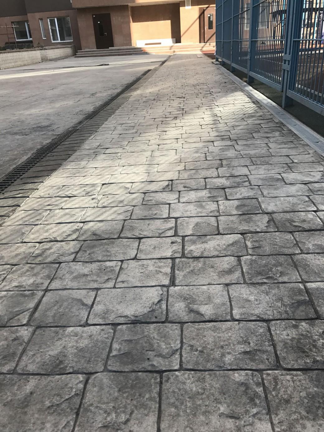 печатный бетон штукатурка