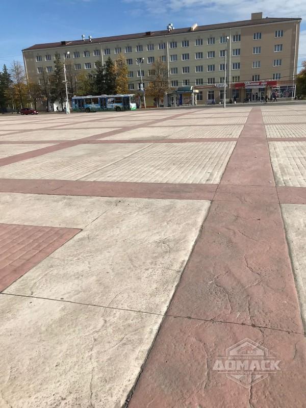 Бетон площадь прогон бетон