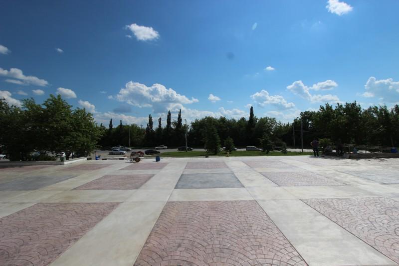 Отделка площадей из печатного бетона